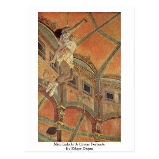 Carte Postale Mlle Lala In A Circus Fernado par Edgar Degas