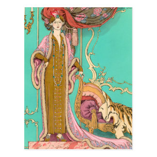 Carte Postale Mlle. Marnac par George Barbier