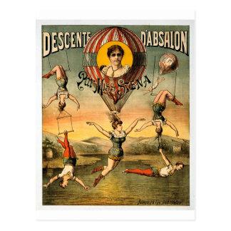 Carte Postale Mlle Stena Vintage Circus de pair de d'Absalon de