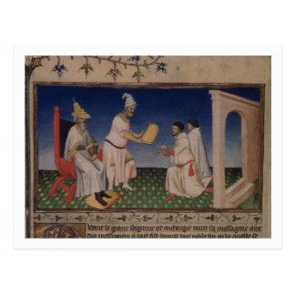 Carte Postale Mme Fr 2810 f.3v Kublai Khan (1214-94) donnant son