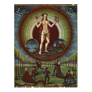 "Carte Postale Mme Lat. 209 f.9v Vénus, de ""De Sphaera"", c.1470"