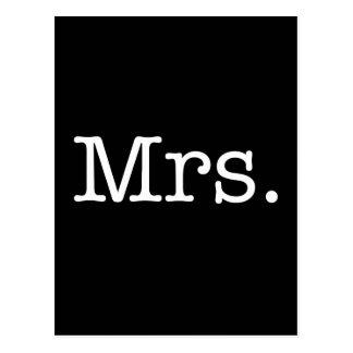 Carte Postale Mme noire et blanche citation d'anniversaire de