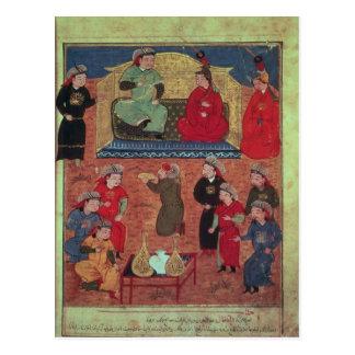 Carte Postale Mme Supp. Pers.Arghan Khan avec deux à lui