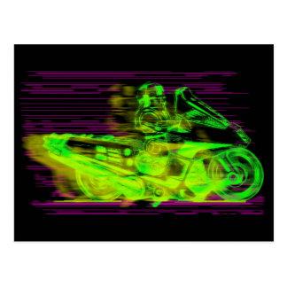 Carte Postale Mode à guidage laser de jet