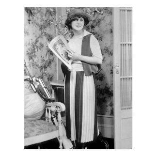 Carte Postale mode de golf des années 1920