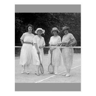Carte Postale mode de tennis des années 1920