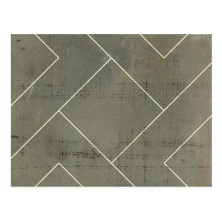 Carte Postale Modèle abstrait avec des formes géométriques
