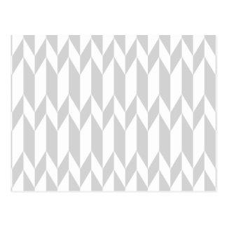 Carte Postale Modèle blanc et en pastel de graphique d'abrégé
