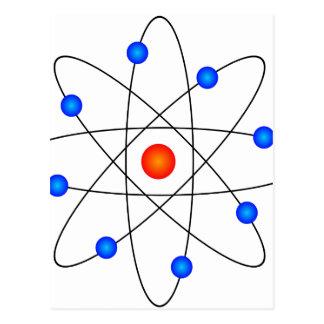 Carte Postale Modèle d'atome