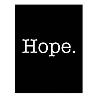 Carte Postale Modèle inspiré noir et blanc de citation d'espoir