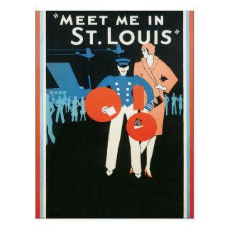Carte Postale Modèle vide - rencontrez-moi à St Louis
