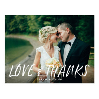 Carte postale moderne de Merci de mariage de photo