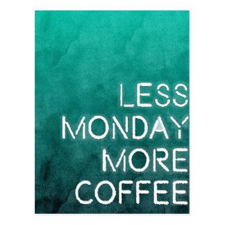 Carte Postale Moins de lundi plus de copie lavée par café