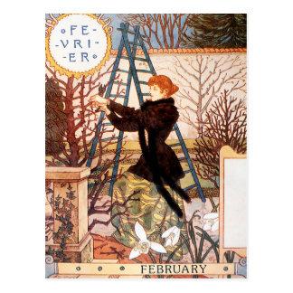 Carte postale : Mois de février - Février