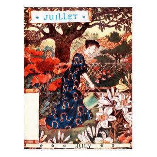 Carte postale : Mois de juillet - Jullet