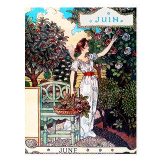 Carte postale : Mois de juin - Juin