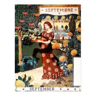 Carte postale : Mois de septembre - Septembre