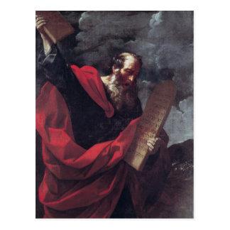 Carte Postale Moïse avec les comprimés de la loi