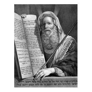 Carte Postale Moïse et les Dix commandements