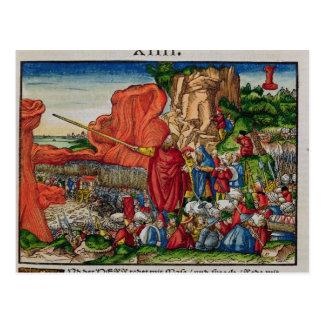 Carte Postale Moïse traversant la Mer Rouge