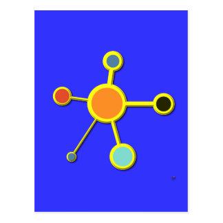 Carte Postale Molécule dans 3D