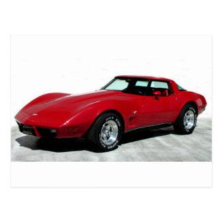 Carte Postale Mon 1979 rouge Corvette