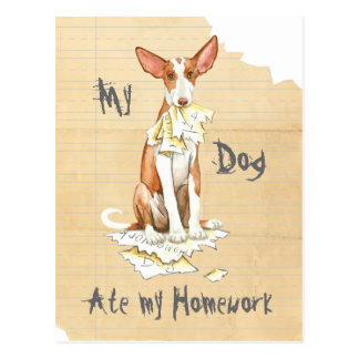 Carte Postale Mon chien d'Ibizan a mangé mon travail