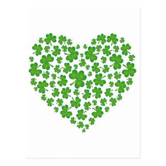Carte Postale Mon coeur irlandais