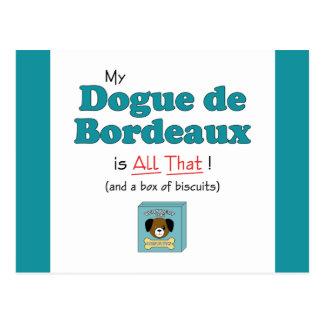 Carte Postale Mon Dogue de Bordeaux est tout cela !