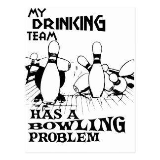 Carte Postale Mon équipe potable a un problème de bowling
