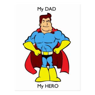 Carte Postale Mon papa mon super héros de héros