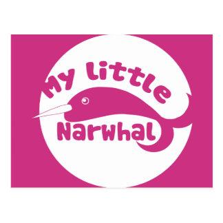 Carte Postale Mon petit Narwhal