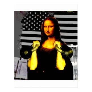 Carte Postale Mona Lisa avec KettleBells