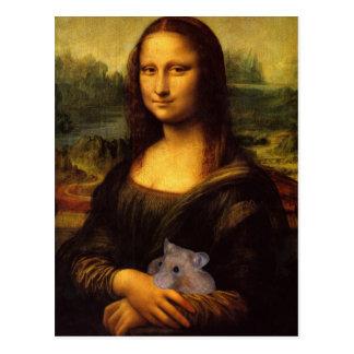 Carte Postale Mona Lisa avec le hamster