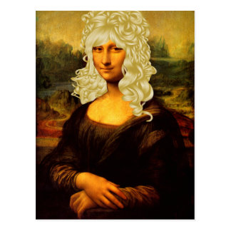 Carte Postale Mona Lisa blonde