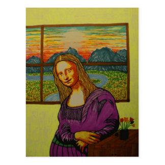 Carte Postale Mona Lisa dans l'expectative