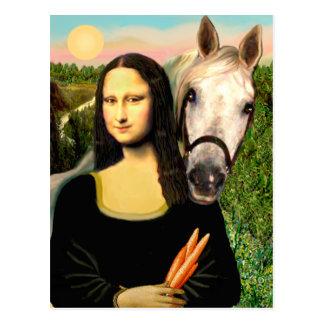 Carte Postale Mona Lisa et son cheval Arabe