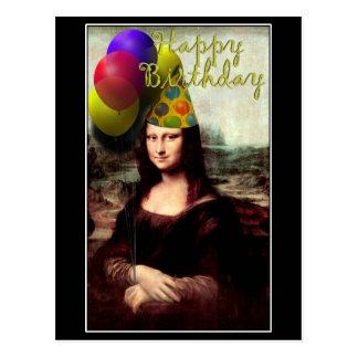 Carte Postale Mona Lisa - la fille d'anniversaire
