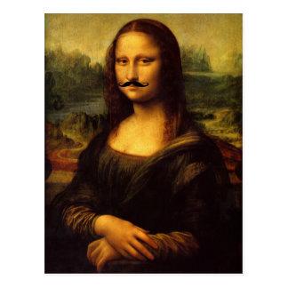 Carte Postale Mona Lisa moustachue
