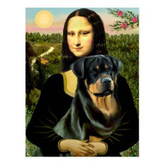 Carte Postale Mona Lisa - rottweiler (#3)