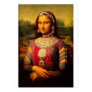 Carte Postale Monalisa royal indien