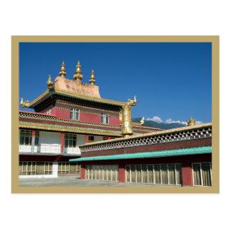 Carte Postale Monastère bouddhiste tibétain