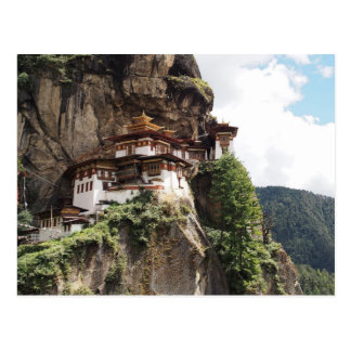 Carte Postale Monastère de Taktsang (le nid du tigre) au Bhutan