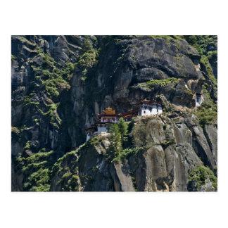 Carte Postale Monastère de Taktsang sur la falaise, Paro, Bhutan