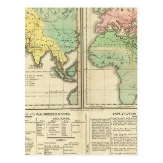 Carte Postale Monde comme connu de la Division d'ancients