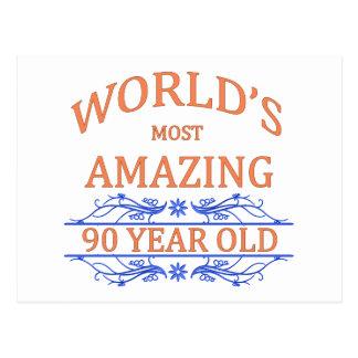 Carte Postale Monde le plus stupéfiant 90 ans