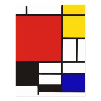Carte Postale Mondrian