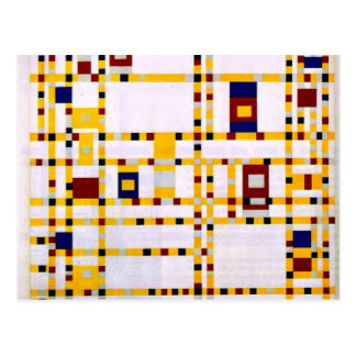 Carte Postale Mondrian - boogie Woogie de Broadway