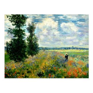 Carte Postale Monet - champ de pavot, Argenteuil