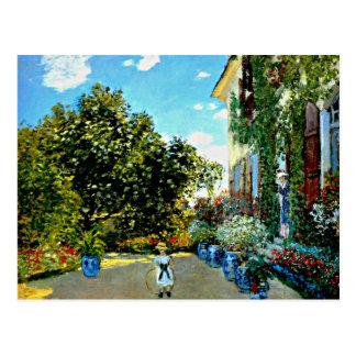 Carte Postale Monet - la Chambre de l'artiste à Argenteuil